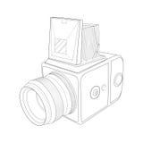Ontwerp van hand uitstekende camera Stock Foto's