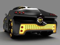 Ontwerp van het concept van de stadsauto in een futuristische stijl 3D Illustratie Royalty-vrije Stock Afbeelding