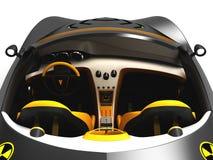 Ontwerp van het concept van de stadsauto in een futuristische stijl 3D Illustratie Royalty-vrije Stock Fotografie