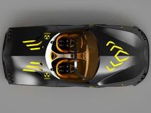 Ontwerp van het concept van de stadsauto in een futuristische stijl 3D Illustratie Stock Fotografie