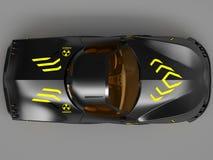 Ontwerp van het concept van de stadsauto in een futuristische stijl 3D Illustratie Royalty-vrije Stock Afbeeldingen