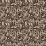 Ontwerp van het graan het naadloze patroon op ambachtdocument royalty-vrije illustratie