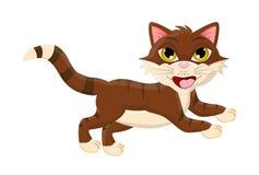 Ontwerp van het het symboolpictogram van de beeldverhaal het springende kat vector stock illustratie