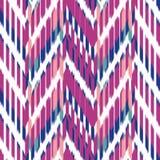 Ontwerp van het Ikat het Naadloze Patroon voor Stof stock illustratie