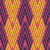 Ontwerp van het Ikat het Naadloze Patroon voor Stof royalty-vrije illustratie