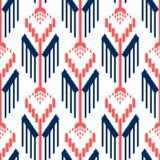Ontwerp van het Ikat het naadloze patroon Etnische stof Boheemse manier royalty-vrije illustratie