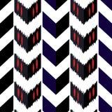 Ontwerp van het Ikat het naadloze patroon Etnische stof Boheemse manier vector illustratie