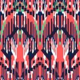 Ontwerp van het Ikat het naadloze patroon Etnische stof Boheemse manier stock illustratie
