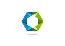 Ontwerp van het kubus het Collectieve embleem Royalty-vrije Stock Afbeelding