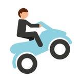 ontwerp van het motorfiets het uiterste geïsoleerde pictogram Stock Afbeeldingen