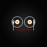 Ontwerp van het ontbijt het voedsel door elkaar gegooide menu backgraund Royalty-vrije Stock Foto