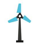 ontwerp van het windmolen het silhouet geïsoleerde pictogram Royalty-vrije Stock Fotografie
