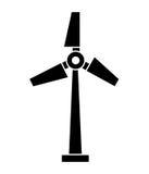 ontwerp van het windmolen het silhouet geïsoleerde pictogram Stock Afbeelding