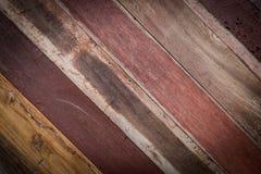 Ontwerp van houten uitstekende de textuurachtergrond van de muurstijl Stock Foto's