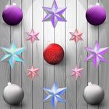 Ontwerp van Kerstmisdecoratie Stock Afbeeldingen