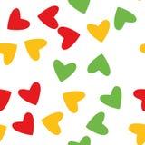 Ontwerp van liefdeharten op witte achtergrond Gelukkige pictogramelementen voor huwelijk, valentijnskaart en Romaans Royalty-vrije Stock Foto
