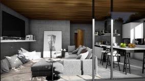 Ontwerp van modern Binnenland, woonkamer stock illustratie