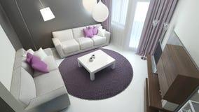 Ontwerp van moderne slaapkamer Royalty-vrije Stock Afbeelding