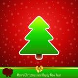 Ontwerp van Nieuwjaar 2014 en Vrolijke groene Kerstmis  Royalty-vrije Stock Afbeelding