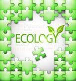 op ecologie betrekking hebbende het raadselillustratie van de markeringswolk Stock Afbeeldingen