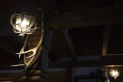Ontwerp van oud rustiek restaurant stock afbeelding