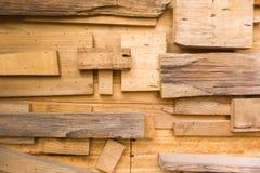Ontwerp van oude houten plankmuur voor decoratie royalty-vrije stock afbeeldingen