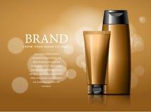 Ontwerp van schoonheidsmiddelen reclame Royalty-vrije Stock Afbeeldingen