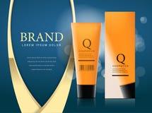 Ontwerp van schoonheidsmiddelen reclame stock illustratie