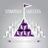 Ontwerp vectorillustratie van succes en strategie Stock Afbeeldingen