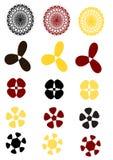 5 ontwerp 3 verschillende kleur Stock Foto's