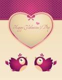 Ontwerp voor de kaart van de Valentijnskaart Stock Foto's