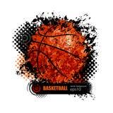 Ontwerp voor een basketbal Stock Afbeelding
