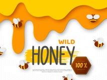 Ontwerp voor imkerij en honingsproduct vector illustratie