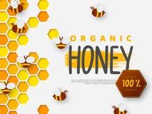 Ontwerp voor imkerij en honingsproduct royalty-vrije illustratie