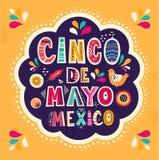 Ontwerp voor Mexicaanse vakantie Cinco De Mayo
