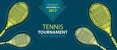 Ontwerp voor tennis, banner Stock Afbeeldingen