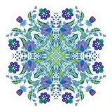 Ontwerp voor vierkante zak, sjaal, textiel Het bloemenpatroon van Paisley Het kleurrijke ornament van Paisley royalty-vrije illustratie