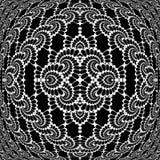 Ontwerp zwart-wit decoratief doorweven patroon Stock Afbeelding