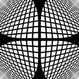 Ontwerp zwart-wit gecontroleerd geometrisch patroon Stock Afbeelding