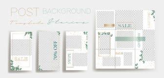 Ontwerpachtergronden voor sociale media banner Reeks Instagram-malplaatjes van het verhalenkader Vectordekking stock illustratie