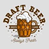 Ontwerpbier Logo Label Design With een Mok of een Krug van Bier met Royalty-vrije Stock Foto's