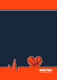 Ontwerpconcept voor basketbal Stock Foto