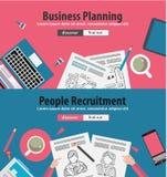 Ontwerpconcepten voor bedrijfsoplossing en financieel beheer Stock Foto's