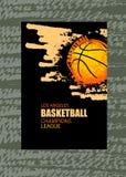Ontwerpdekking voor basketbal Royalty-vrije Stock Afbeelding