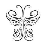 Ontwerpelement in de vorm van een vlinder Stock Afbeeldingen
