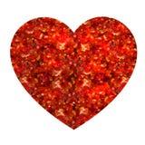 Ontwerpelement: valentijnskaartenhart Vector Rood Royalty-vrije Stock Fotografie