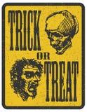Ontwerpelement voor Halloween Getrokken hand Vector Royalty-vrije Stock Foto