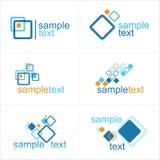 Ontwerpelementen of embleem - abstracte illustratie Stock Foto's