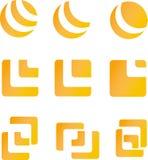Ontwerpelementen en emblemen Stock Foto's