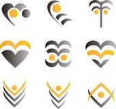 Ontwerpelementen en emblemen Stock Afbeelding